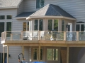 Treated Wood Deck with Glass Rails
