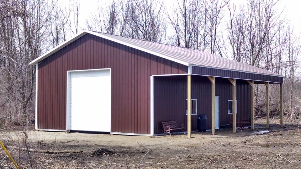 Sterling built pole barn garages gallery Garage barn